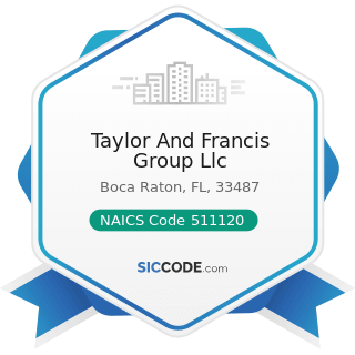 Taylor And Francis Group Llc - NAICS Code 511120 - Periodical Publishers