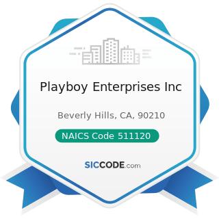 Playboy Enterprises Inc - NAICS Code 511120 - Periodical Publishers