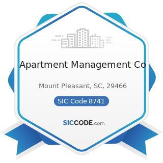 Apartment Management Co - SIC Code 8741 - Management Services