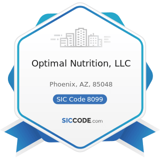 Optimal Nutrition, LLC - SIC Code 8099 - Health and Allied Services, Not Elsewhere Classified
