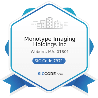 Monotype Imaging Holdings Inc - SIC Code 7371 - Computer Programming Services