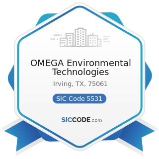 OMEGA Environmental Technologies - SIC Code 5531 - Auto and Home Supply Stores