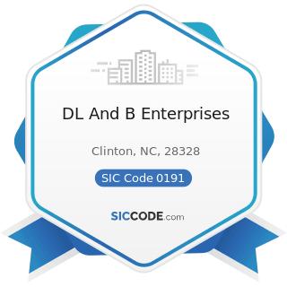 DL And B Enterprises - SIC Code 0191 - General Farms, Primarily Crop