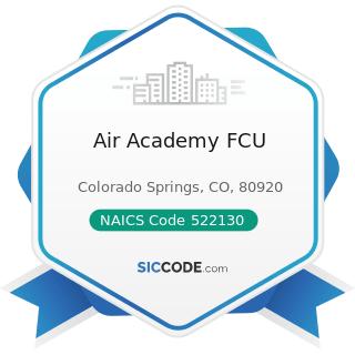 Air Academy FCU - NAICS Code 522130 - Credit Unions