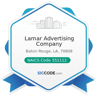 Lamar Advertising Company - NAICS Code 551112 - Offices of Other Holding Companies