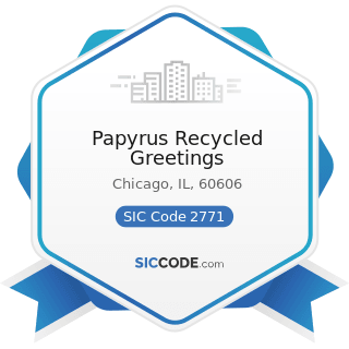 Papyrus Recycled Greetings - SIC Code 2771 - Greeting Card