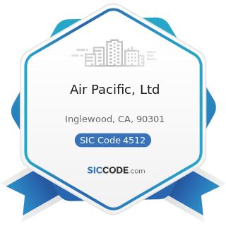 Air Pacific, Ltd - SIC Code 4512 - Air Transportation, Scheduled