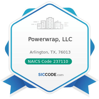 Powerwrap, LLC - NAICS Code 237110 - Water and Sewer Line and Related Structures Construction