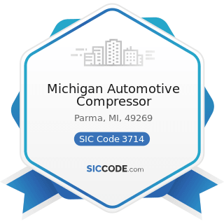 Michigan Automotive Compressor - SIC Code 3714 - Motor Vehicle Parts and Accessories