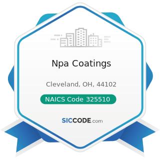 Npa Coatings - NAICS Code 325510 - Paint and Coating Manufacturing