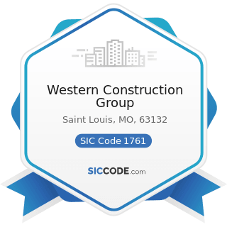 Western Construction Group - SIC Code 1761 - Roofing, Siding, and Sheet Metal Work