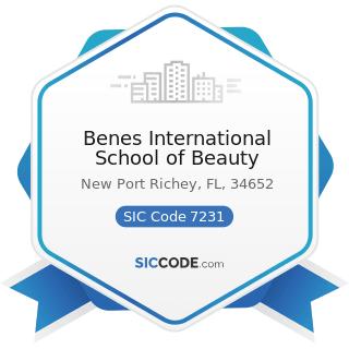 Benes International School of Beauty - SIC Code 7231 - Beauty Shops