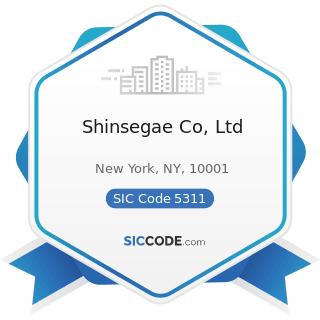 Shinsegae Co, Ltd - SIC Code 5311 - Department Stores