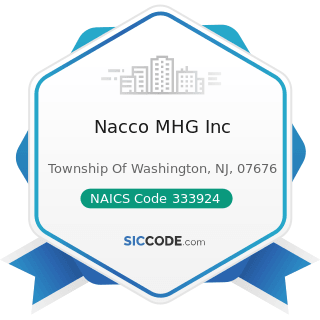 Nacco MHG Inc - NAICS Code 333924 - Industrial Truck, Tractor, Trailer, and Stacker Machinery...