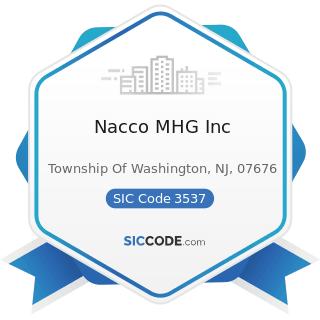 Nacco MHG Inc - SIC Code 3537 - Industrial Trucks, Tractors, Trailers, and Stackers