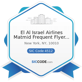El Al Israel Airlines Matmid Frequent Flyer Club - SIC Code 4512 - Air Transportation, Scheduled