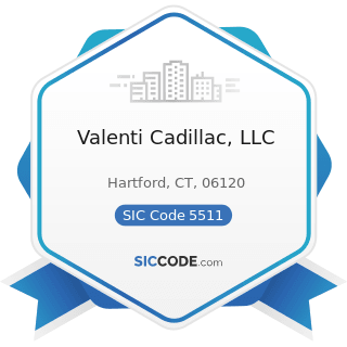 Valenti Cadillac, LLC - SIC Code 5511 - Motor Vehicle Dealers (New and Used)