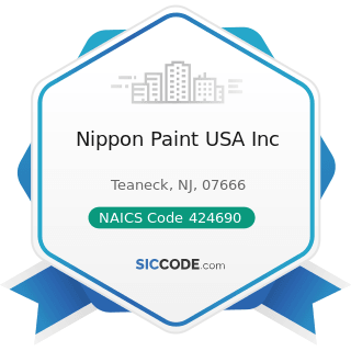 Nippon Paint USA Inc - NAICS Code 424690 - Other Chemical and Allied Products Merchant...