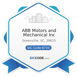 ABB Motors and Mechanical Inc - SIC Code 8733 - Noncommercial Research Organizations