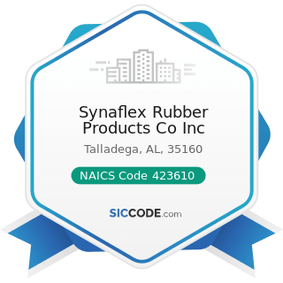 Synaflex Rubber Products Co Inc - NAICS Code 423610 - Electrical Apparatus and Equipment, Wiring...