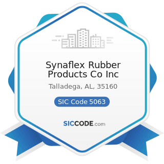 Synaflex Rubber Products Co Inc - SIC Code 5063 - Electrical Apparatus and Equipment Wiring...