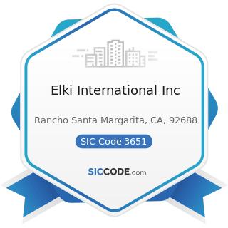 Elki International Inc - SIC Code 3651 - Household Audio and Video Equipment