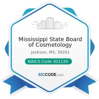Mississippi State Board of Cosmetology - NAICS Code 921120 - Legislative Bodies