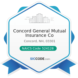 Concord General Mutual Insurance Co - NAICS Code 524128 - Other Direct Insurance (except Life,...