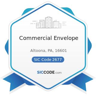 Commercial Envelope - SIC Code 2677 - Envelopes