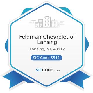 Feldman Chevrolet of Lansing - SIC Code 5511 - Motor Vehicle Dealers (New and Used)