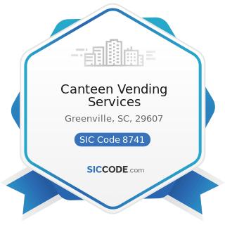 Canteen Vending Services - SIC Code 8741 - Management Services