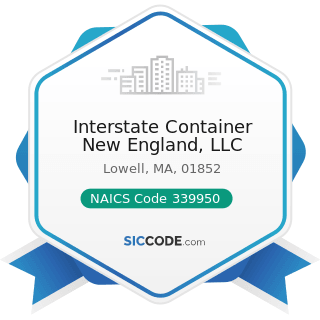 Interstate Container New England, LLC - NAICS Code 339950 - Sign Manufacturing