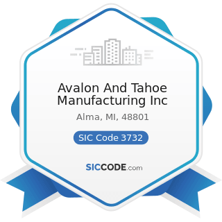 Avalon And Tahoe Manufacturing Inc - SIC Code 3732 - Boat Building and Repairing