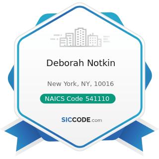 Deborah Notkin - NAICS Code 541110 - Offices of Lawyers