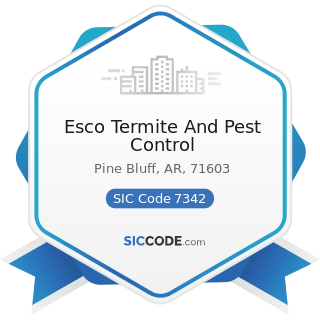Esco Termite And Pest Control - SIC Code 7342 - Disinfecting and Pest Control Services