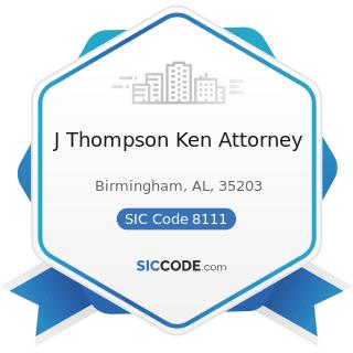 J Thompson Ken Attorney - SIC Code 8111 - Legal Services