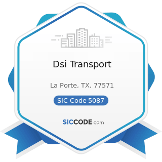 Dsi Transport - SIC Code 5087 - Service Establishment Equipment and Supplies