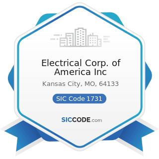 Electrical Corp. of America Inc - SIC Code 1731 - Electrical Work