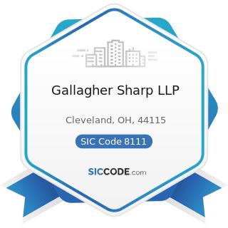 Gallagher Sharp LLP - SIC Code 8111 - Legal Services