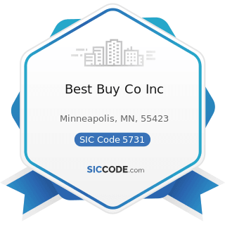 Best Buy Co Inc - SIC Code 5731 - Radio, Television, and Consumer Electronics Stores