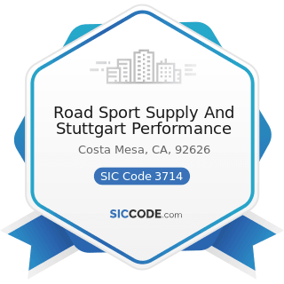 Road Sport Supply And Stuttgart Performance - SIC Code 3714 - Motor Vehicle Parts and Accessories