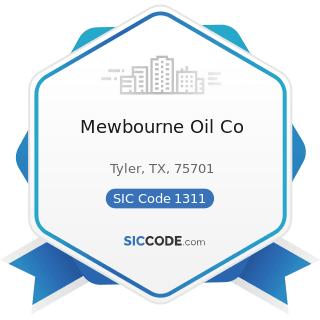 Mewbourne Oil Co - SIC Code 1311 - Crude Petroleum and Natural Gas