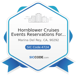 Hornblower Cruises Events Reservations For Public Cruises - SIC Code 4724 - Travel Agencies