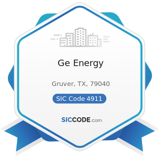 Ge Energy - SIC Code 4911 - Electric Services