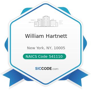William Hartnett - NAICS Code 541110 - Offices of Lawyers