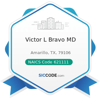 Victor L Bravo MD - NAICS Code 621111 - Offices of Physicians (except Mental Health Specialists)