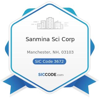 Sanmina Sci Corp - SIC Code 3672 - Printed Circuit Boards