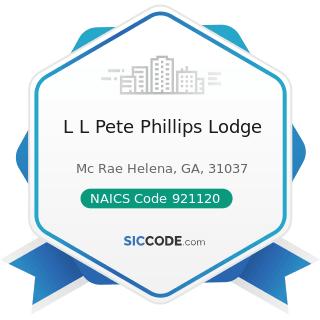 L L Pete Phillips Lodge - NAICS Code 921120 - Legislative Bodies