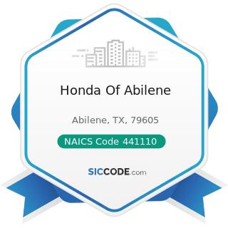 Honda Of Abilene - NAICS Code 441110 - New Car Dealers