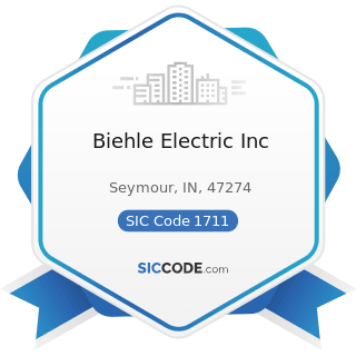 Biehle Electric Inc - SIC Code 1711 - Plumbing, Heating and Air-Conditioning